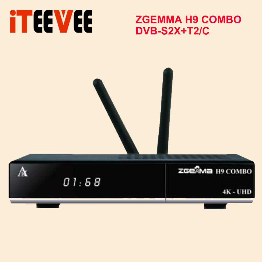 2019 NEW 4K UHD ZGEMMA H9 COMBO Reveiver Linux OS 2 WiFi Internal 2 Ci Plus