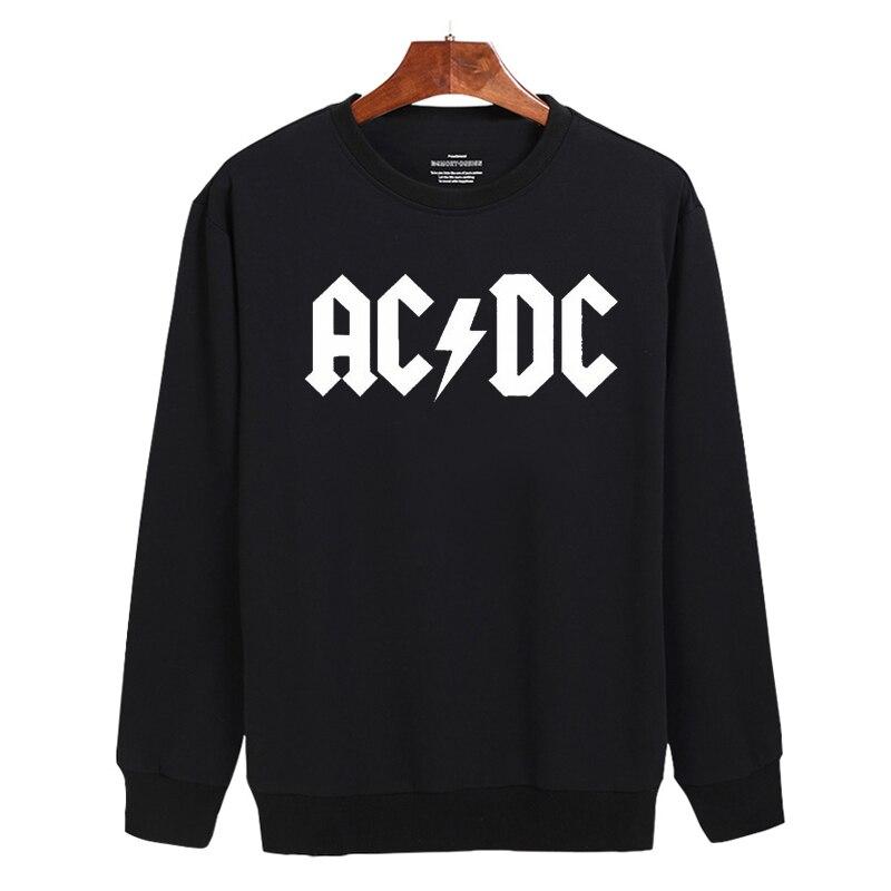 Rock and Roll AD/DC Harajuku Sweatshirt Black and Classic Mens Long Sleeve Hoodies Mens Hip Hop Hoodies XXS TO 3XL
