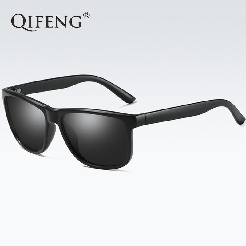 QIFENG Moda Polarized Óculos De Sol Mulheres Motorista Óculos de Sol Dos  Homens Da Marca Para 3c19eb7876