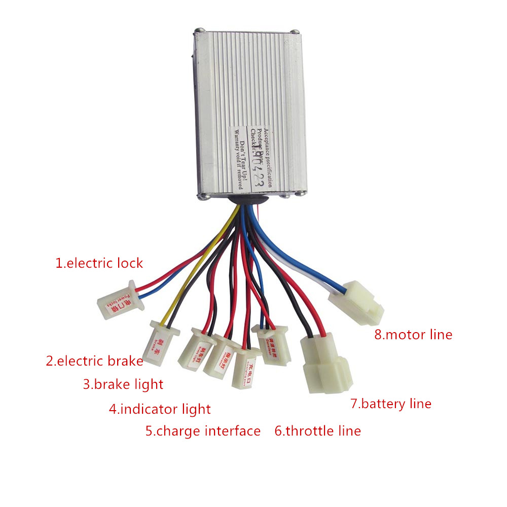 24V 36V 48V 350W 500W E-bike Motor Brushed Controller For Electric Bike Scooter E-bike Electric Bicycle Ebike