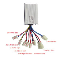 24V 36V 48V 350W 500W e-bike motor brushed controller for electric bike scooter bicycle ebike