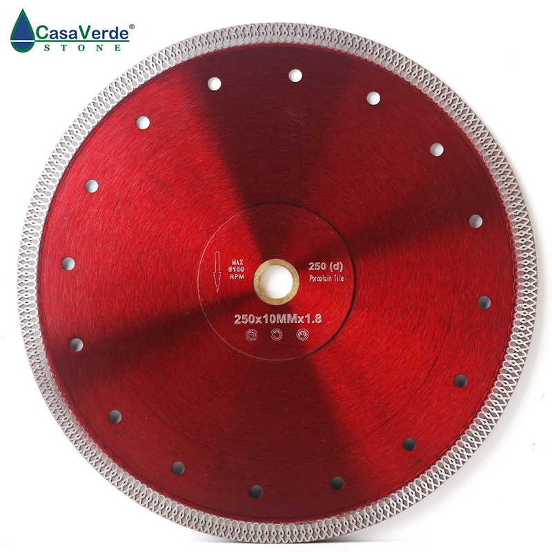 Free shipping DC SXSB08 10 inch super thin diamond porcelain saw blade 250mm for porcelain and