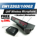 Free Shipping by DHL Professional EW122G2 UHF Wireless Microphone EW100 G2 Wireless System With BodyPack Transmitter Headset Mic