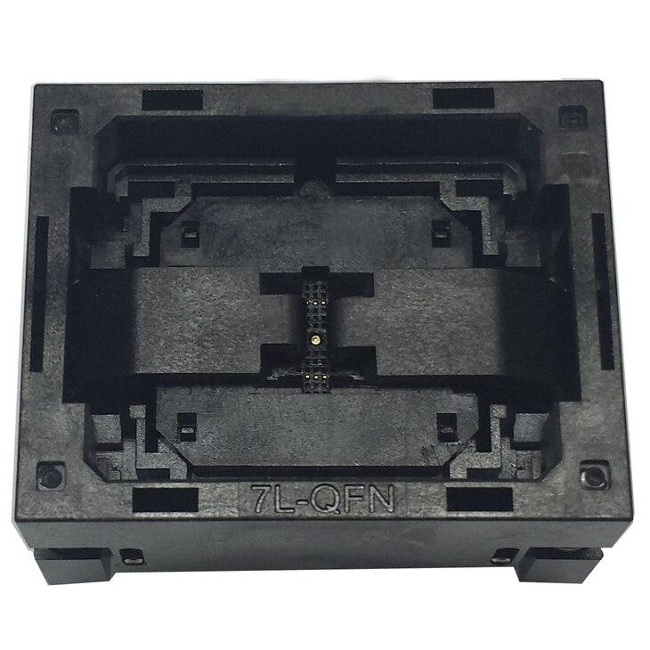 Graver dans la prise QFN28 MLF28 NP506-028-028-C-G IC prise de Test Opentop taille de la puce 5*5 adaptateur Flash connecteur de prise de programmation