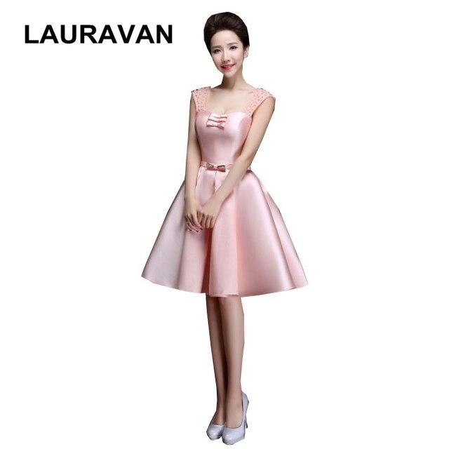 683c50877e80e5 Korte roze rood blauw spaghettibandjes satijnen jurk mouwloze bruidsmeisje  party jurken baljurk wedding pastel gratis verzending