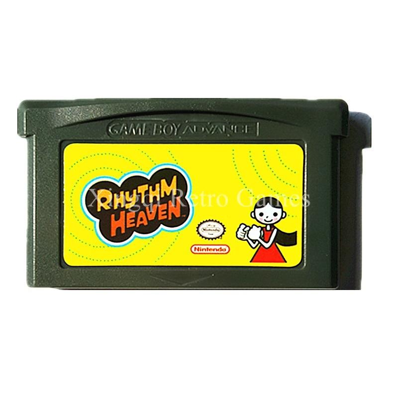 Nintendo GBA Game Rhythm Heaven Video Game Cartridge Console Card English Language