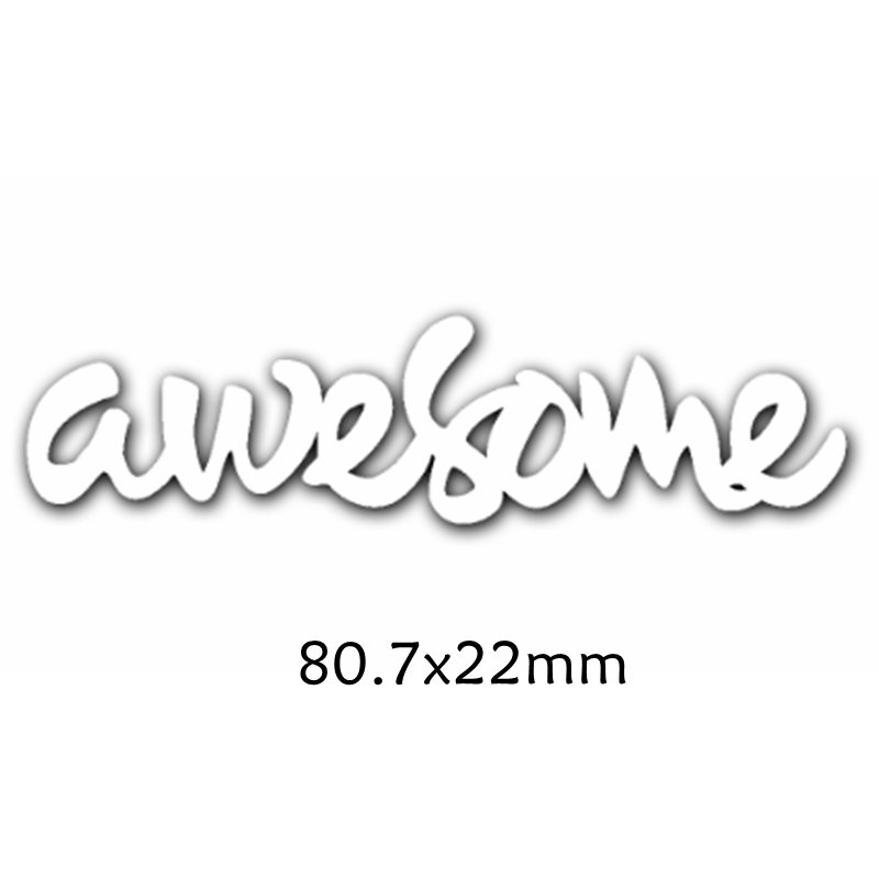 Believe Holiday Seriously Awesome Words Metal Cutting Dies For DIY Scrapbooking