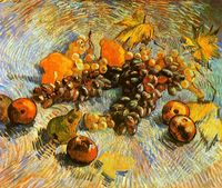 Still life fruit oil painting Van Gogh Reproduction oil painting nice wall pictures for living room high quality No Frame