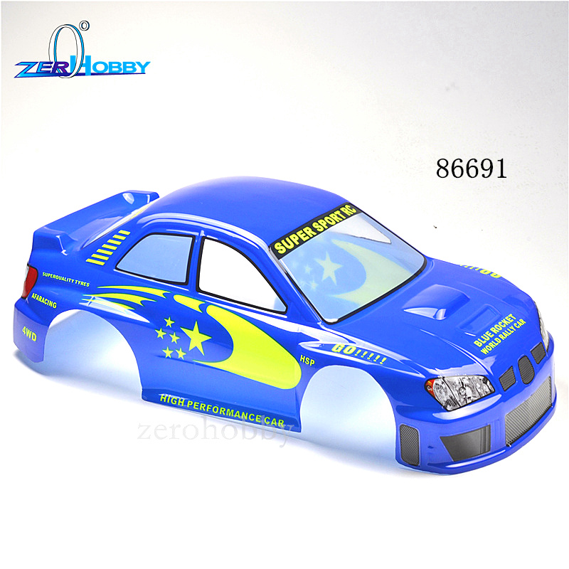 HSP 1/8 On-road Rally Racing Body for Hobby Remote Control RC Car Electric/Nitro Robot Control Remote Car Body Shell 86691 86692 1 10 rc car 190mm on road drift rally subaru body shell blue