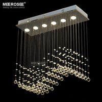 Rectangle Crystal Chandelier Light GU10 Bulbs Crystal Curtain Wave Light For Ceiling Free Shipping
