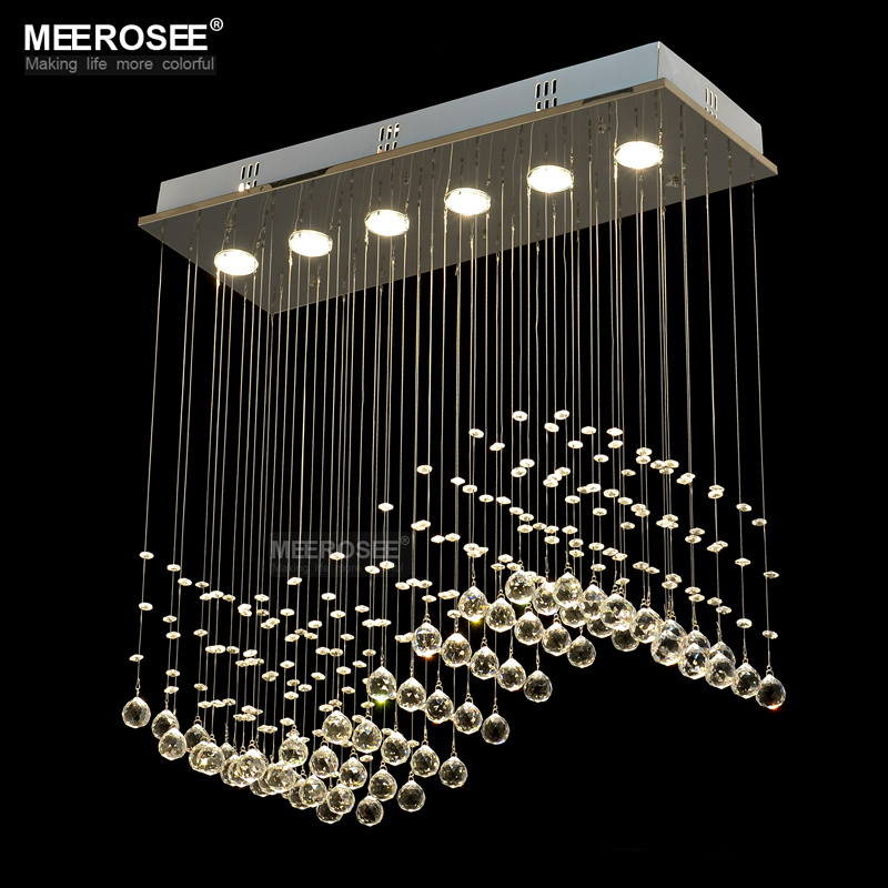 Self-Conscious Modern Led Crystal Chandelier Light Round Circle Flush Mounted Chandeliers Lamp Living Room Lustre Luminaria With Remote Control Ceiling Lights & Fans