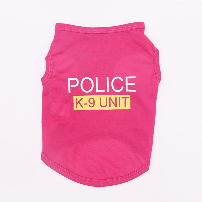 Cute Little Puppy Police Vest T-Shirt Summer Pet Costume Polyester Small Dog Cat Clothes Super Breathable Puppy Poodle Apparel7