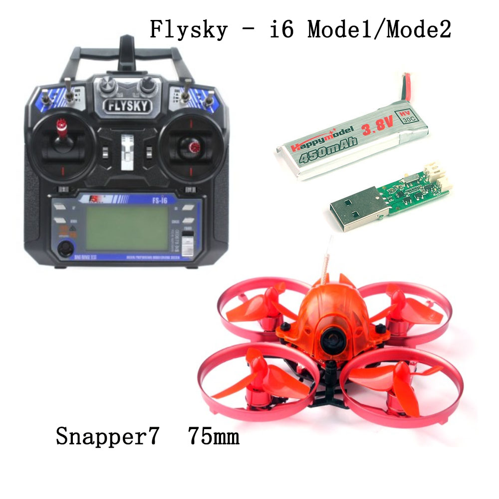 JMT Snapper7 Brushless 4-Axis Drone Micro 75mm FPV Racer Mulitcopter RTF 700TVL Camera with FS-i6 RC Transmitter Controller rc quadcopter diy robocat drone with camera 270mm fs i6 transmitter emax brushless motor simonk esc cc3d flight controller