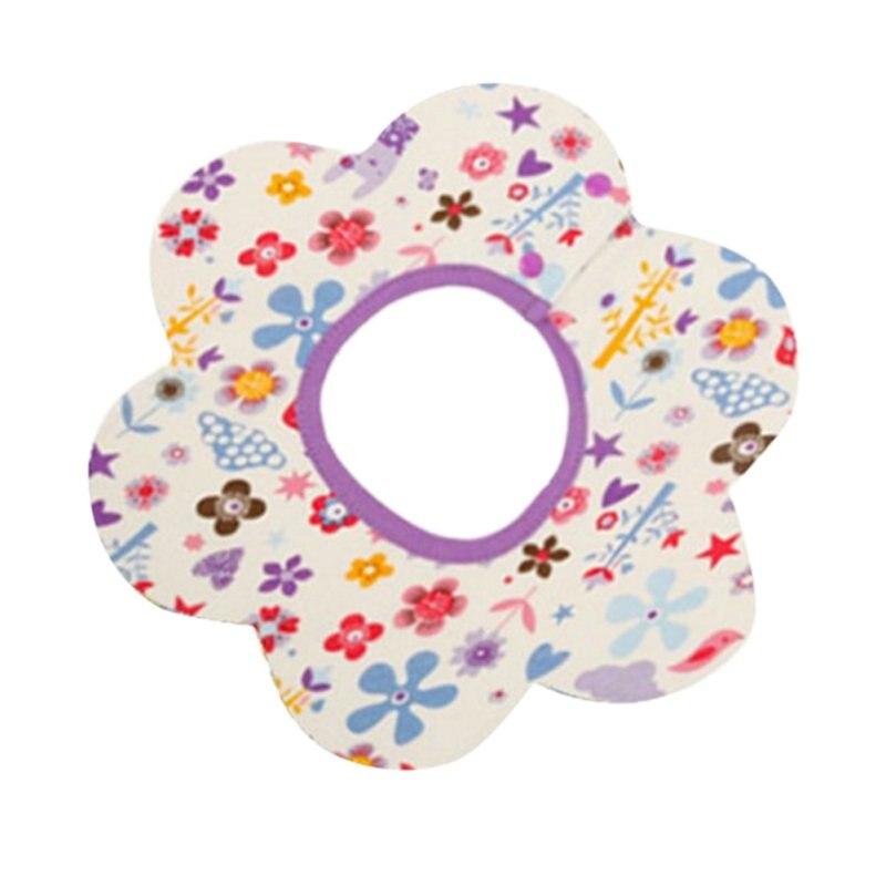 Baby Bibs Cotton Flower Star Babador Four Layer Waterproof Slobber Towel Baby Band Bib Swivel Snap Octagonal Circular Rice Bag