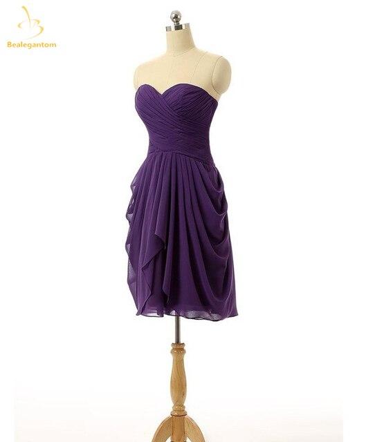 eb6a271c73c0c Bealegantom 2018 New Chiffon Short Homecoming Prom Dresses Lace Up Plus  Size Formal Evening Party Gowns Vestido QA1445