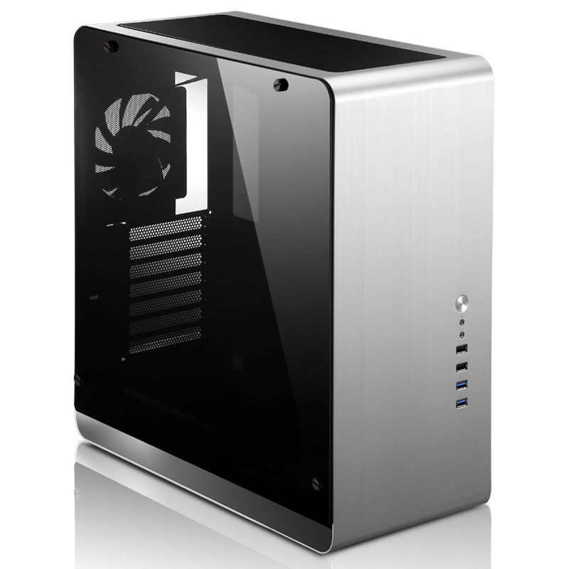 Jonsbo UMX4 Aluminum Computer Case Tempered glass penetration version large-panel Support water-cooled ATX media chassis USB3.0 jonsbo rm2 aluminum chassis atx small chassis support atx motherboard atx power supply