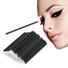 50pcs Disposable Eyeliner Brushes Individual Applicator Superfine Fibre Swab Eye Liner Liquid Wand Professional Brush