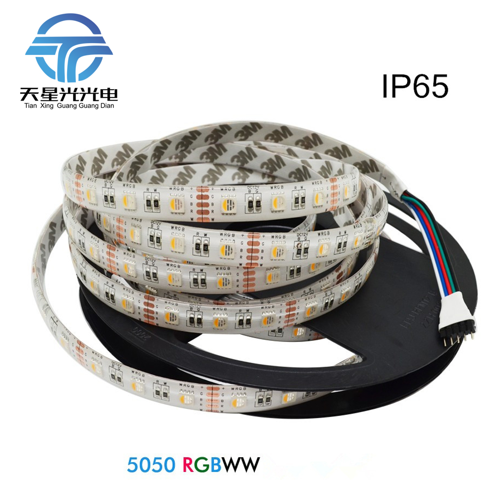 Txg 5 м RGBW rgbww 4 в 1 светодиодный чип 60LED/M 5050 светодиодные полосы света DC12V Водонепроницаемый не водонепроницаемый Indoor Открытый украшения дома