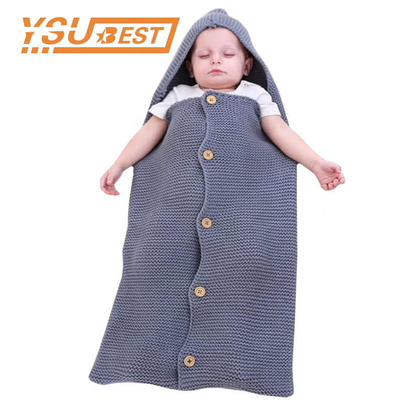 Baby Boys Girl Sleep Sacks Knit Envelope Newborns Sleeping Bag Sleepsack for Baby Air Conditioning Toddler Stroller Swaddle Wrap