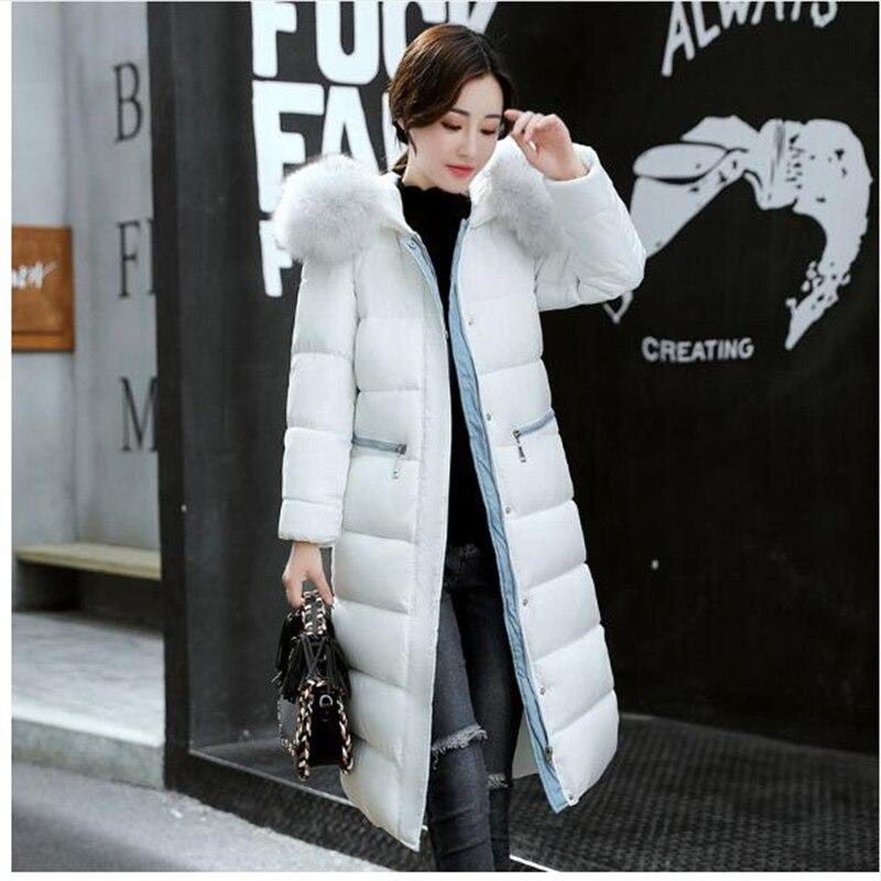 Parka 2 4 Épais Col D'hiver Veste 2018 1 Manteau Grand Chaud Femmes Long 3 Mode Rembourrage Dames De Coton Fourrure Sx7pT