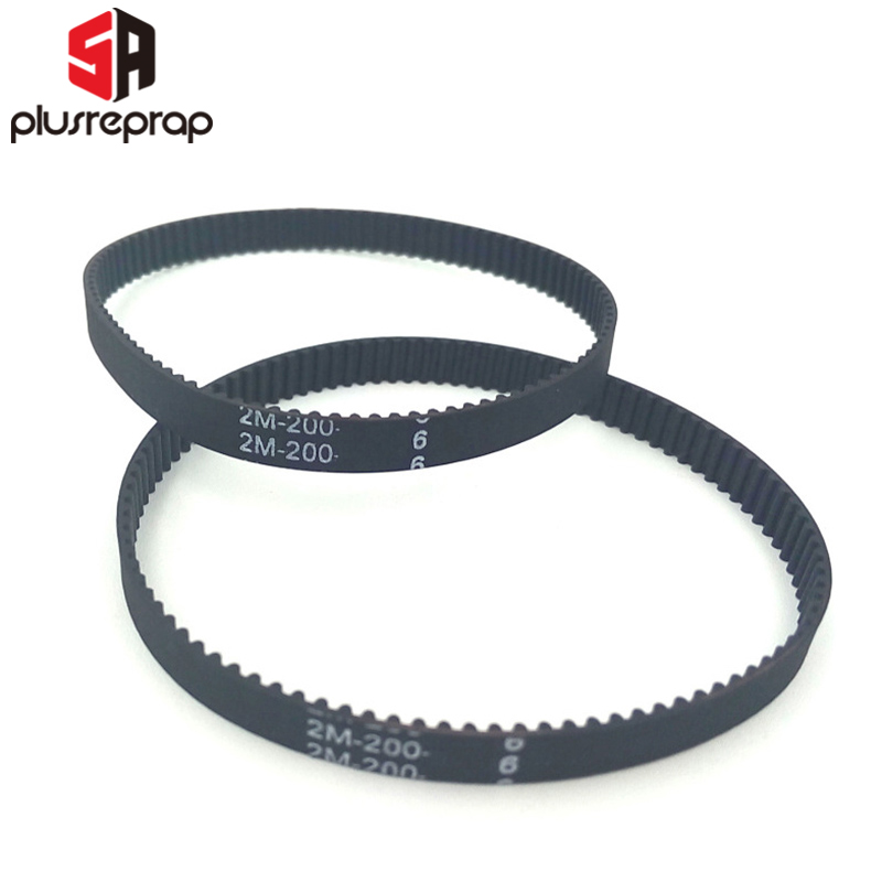5 Pcs Closed Loop Timing Belt 2GT Rubber Length 160-2270mm for 6mm Timing Pulley