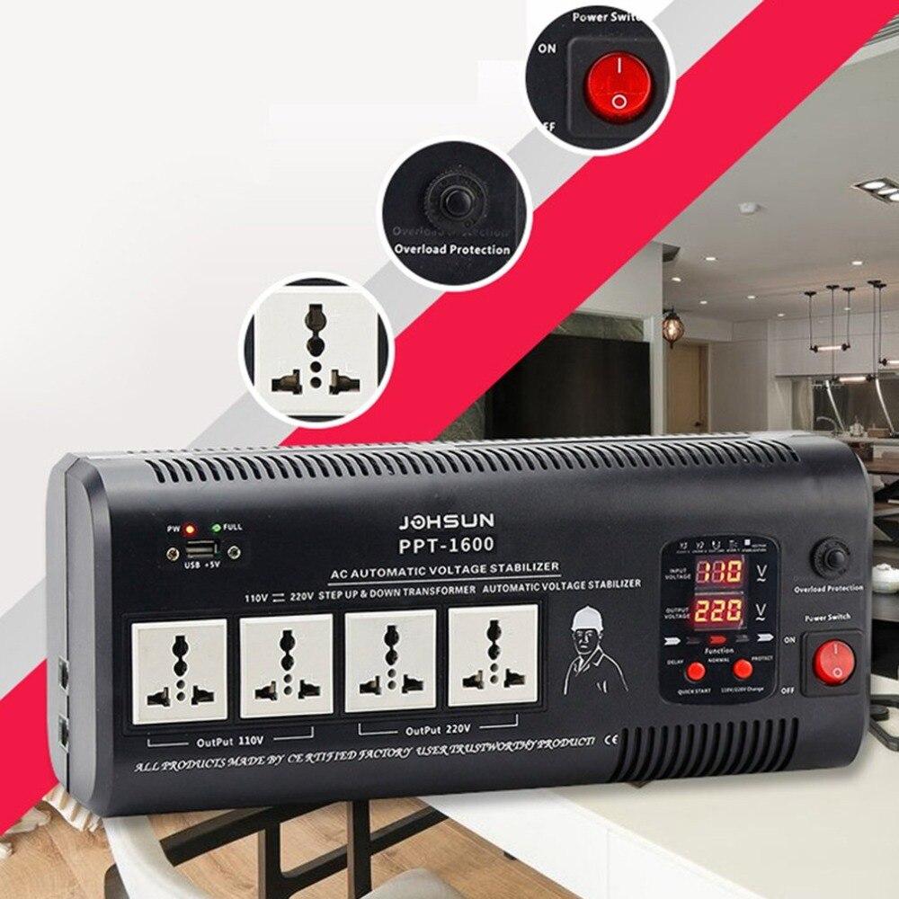 New 90-280v Ground Insertion Relay Regulator 220v To 110v Voltage Converter 1500w Regulator 1pcs lot sh b17 50w 220v to 110v 110v to 220v