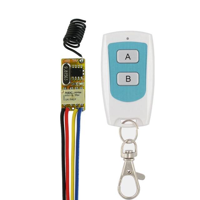 DC 37V 5V 6V 7V 9V 12V Mini Relay Switch Wireless Remote Control