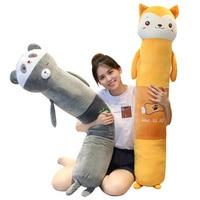 1pc 90cm Soft Long Animal Cartoon Pillow Cushion Cute Panda Shiba inu Rabbit Hamster Plush Toy Stuffed Lovely Birthyday Gift
