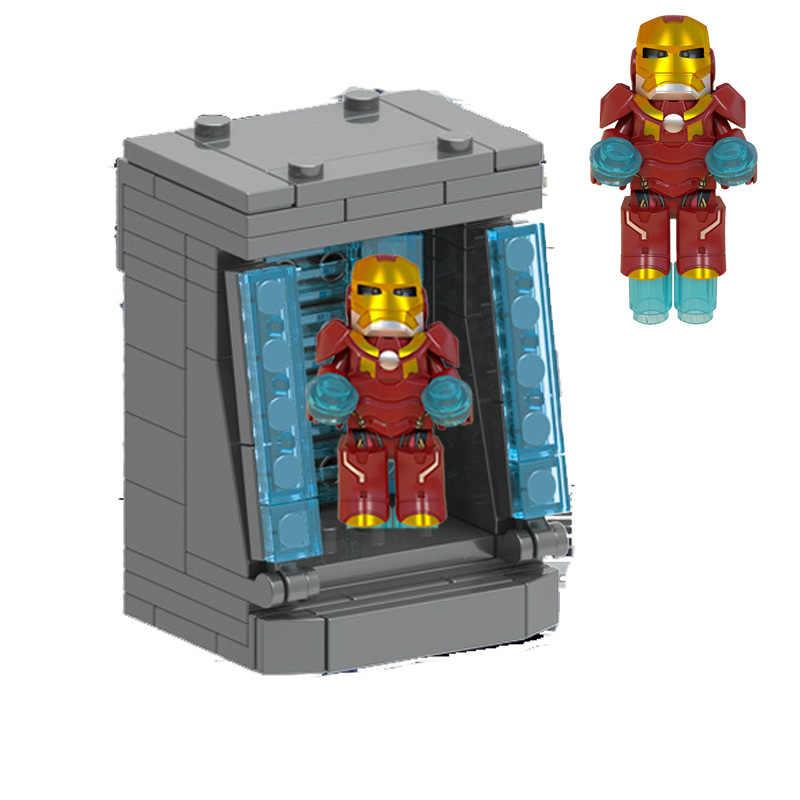 Single Sale Marvel Avengers Endgame Super Heroes Hulk The infinity gauntlet iron Man Mech robot Figures Toy For children Gifts