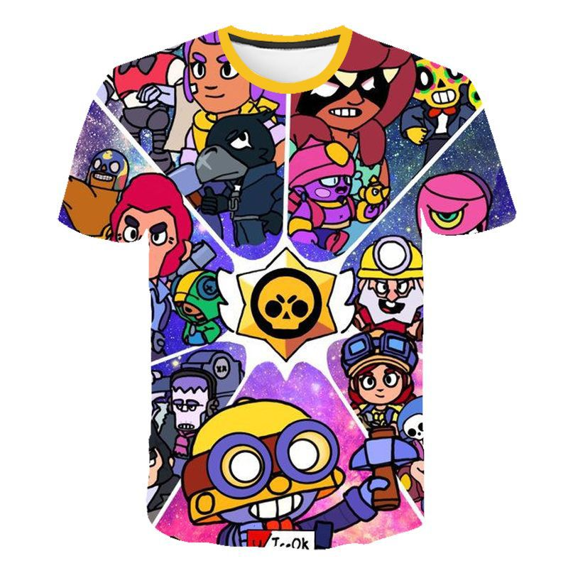 2019 Summer New Shooting Game 3D Printed Brawle Stares T-shirt  Fashion Cartoon T-shirt Hot Sales Tshirt Boys And Girls T-Shirt
