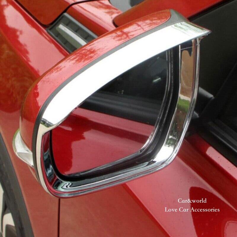 For Suzuki Vitara Rear View Mirror Rain Cover RearView Mirrors Trim Shield Visor 2015 2016 2017 Chrome Car-styling Accessories
