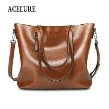 ACELURE, винтажная женская сумка на плечо, Женская Повседневная сумка, для ежедневных покупок, универсальная, высокое качество, женская сумка, bolsa feminina