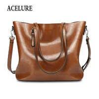 Acelure vintage bolsa de ombro feminino totes causais para compras diárias de alta qualidade senhoras bolsa feminina