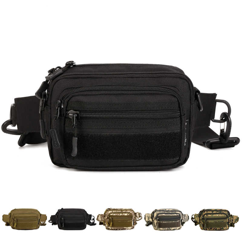 High Quality Military Waist Pack Fanny Hip Belt Clutch Bag Molle Men 1000D Nylon Assault Messenger Crossbody Small Shoulder Bag