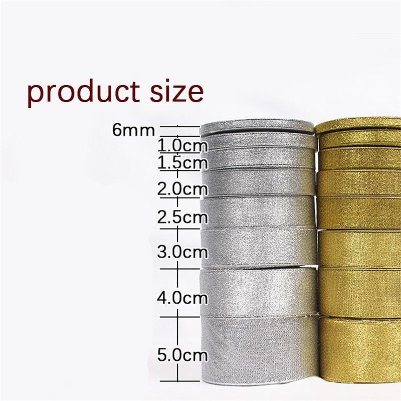HTB1NpgTXhrvK1RjSszeq6yObFXap Gold/Silver Silk Satin Organza Ribbon 0.6-5CM Glitter Embroidered Onions Ribbons for Wedding Cake Gift Decoration Craft Supplies