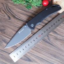 Ganzo G7533 F7533 58-60HRC 440C G10 или углеродного волокна ручка складной Ножи выживание на открытом воздухе кемпинга нож карманный тактический