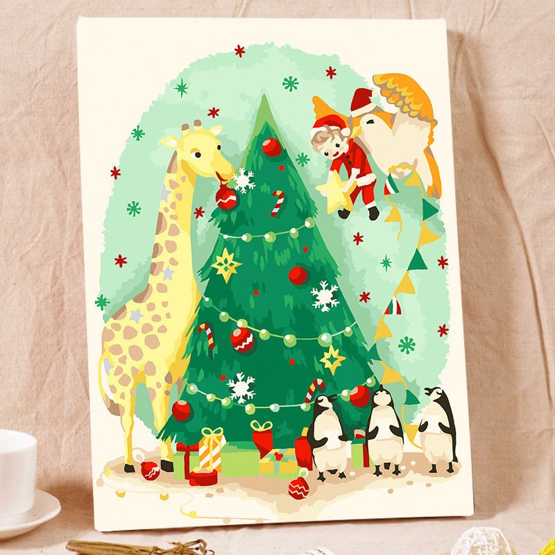 Modular Painting Christmas Tree Digital Paint By Numbers Gift Diy