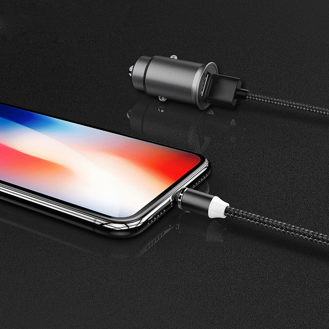 Magnetic USB Mobile Device Charging Cable – Supports All Devices (with USB type-C and Micro charging ports) and iPhone
