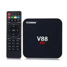 2016 V88 Smart TV Box Rockchip 3229 Quad Core 4K H.265 1GB DDR3 RAM 8GB eMMC ROM Mini PC Android TV Box Set-Top Box Wholesales