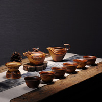 Home office simple retro Chinese tea set with tea cans combination kiln into stoneware set of Kung Fu tea set ZP5021638