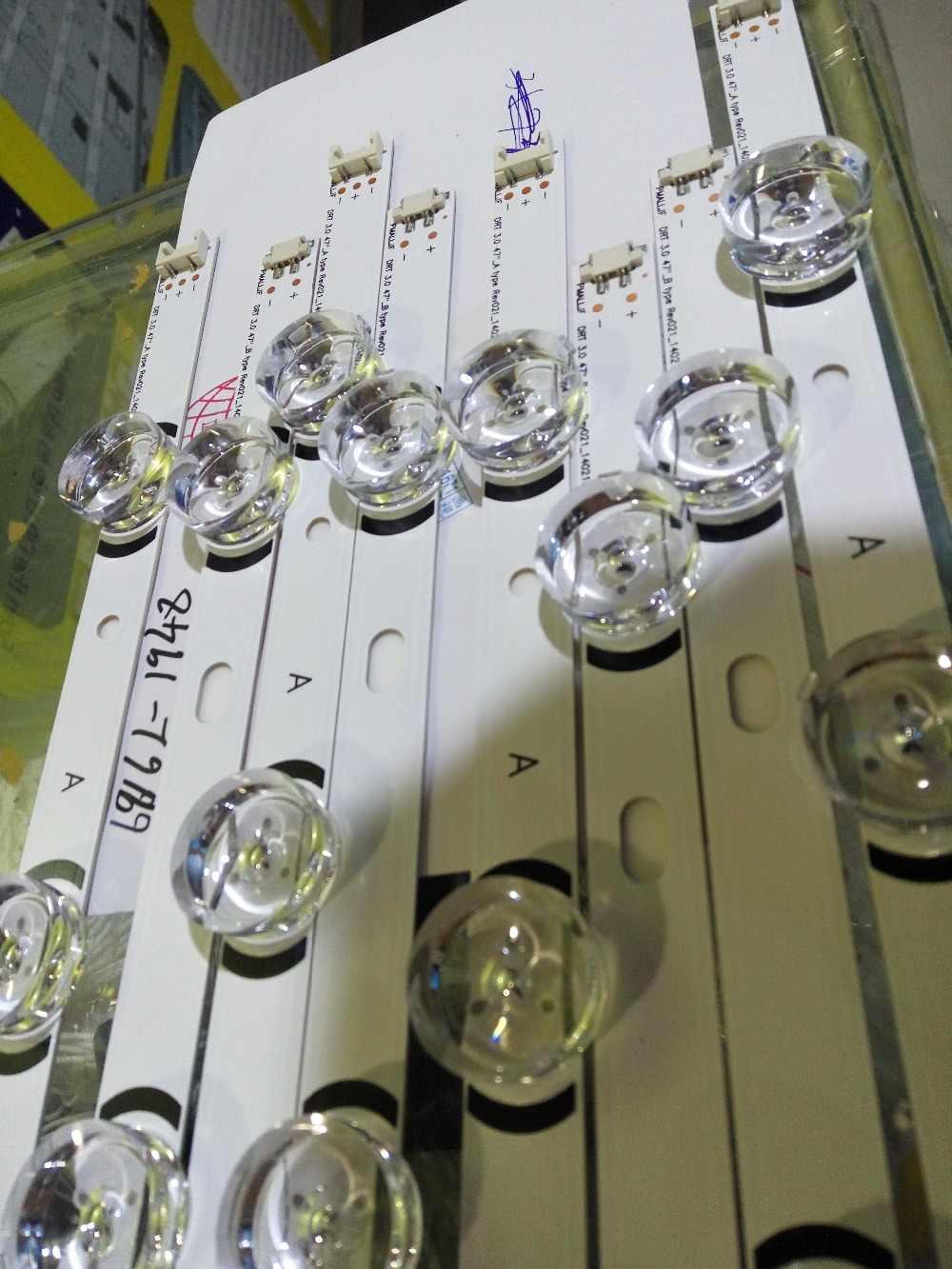 8 STUKS nieuwe 5 + 4LED STRIP nnotek DRT 3.0 6916L-1948A 6916L-1949A 6916L-1961A 6916L-1962A 6916-1715A 6916L-1716A voor 47LB5610-CD