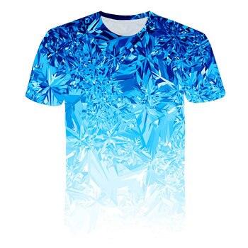 All Over Print Men Let It Snow - Mint Graphic T-Shirt