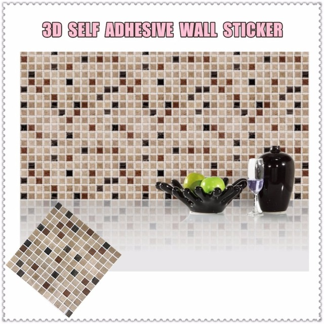 Aliexpresscom Buy Self Adhesive Mosaic Tile Wall Sticker DIY