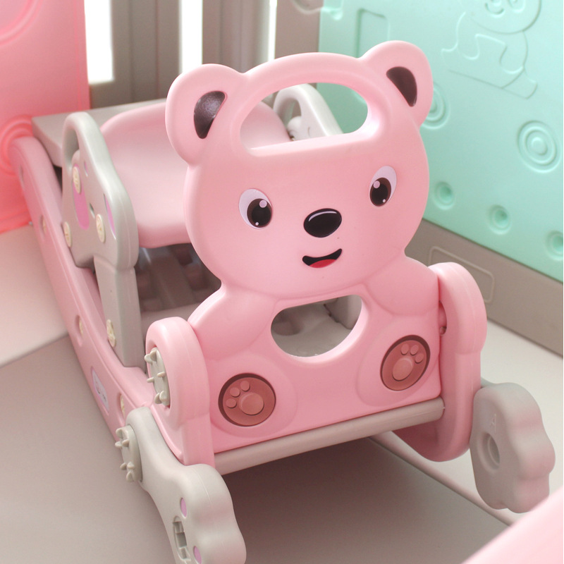 Rocking Horse Ride On Toys Baby Rocking Slide Plastic Chair Indoor Safe Play Shoot Basketball Game Exercise Toys