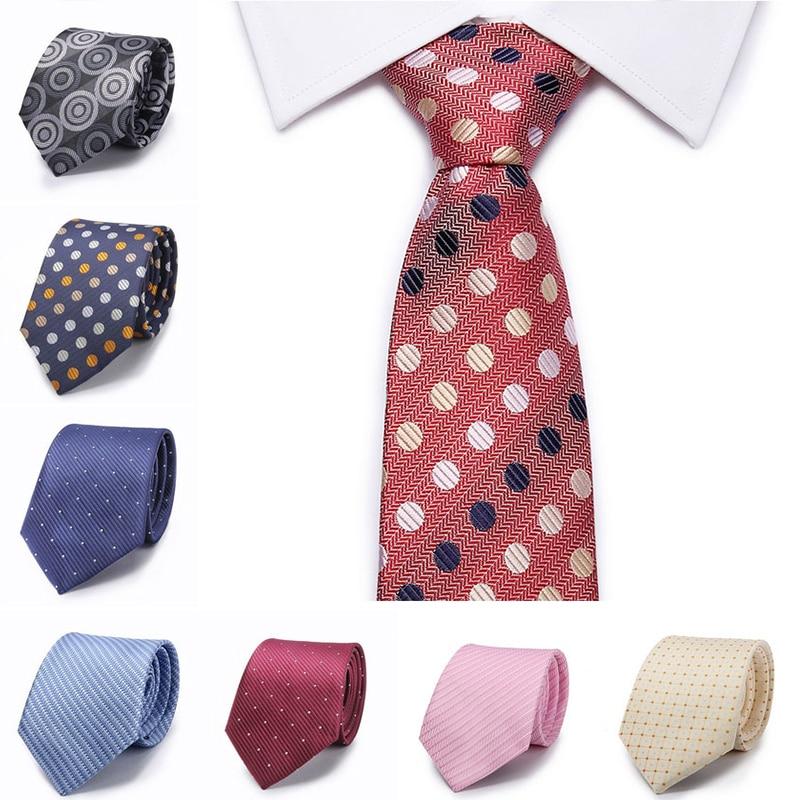 2017 New Fashion Tie High Quality England Style Stripes JACQUARD WOVEN Men's Tie Necktie 8cm Business Wedding Tie Male Dress