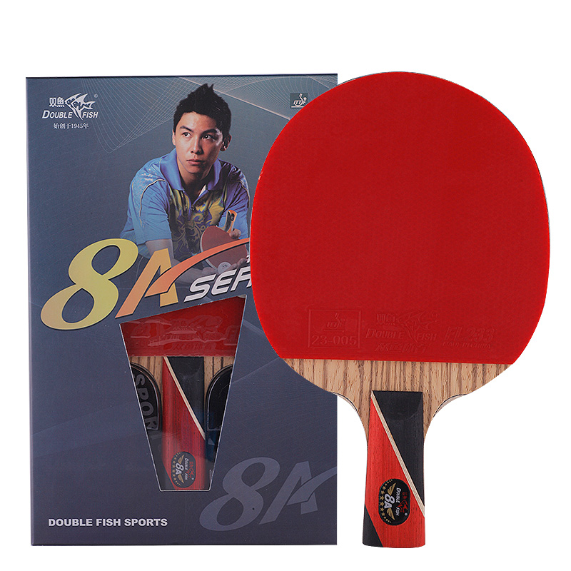 100 original Double Fish 8A Table Tennis Bat Ping Pong Legend Racket with case racquet sports