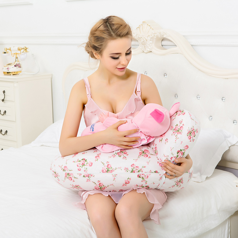 Free shipping On Sale 100% Cotton Baby Nursing Pillow For Breastfeeding Use Baby Cotton Pillow Cojin De Lactancia 2Pcs one Set on sale 100