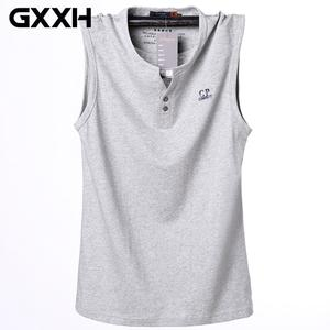82e2a101bf40e GXXH 2018 Tank Tops Cotton Sleeveless Fitness Men Vest Male