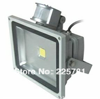 50W LED Floodlight Whit PIR Motion Sensor Induction Free Shipping By DHL FEDEX LED Flood Lights