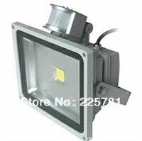 50W LED Floodlight Whit PIR Motion Sensor Induction Free Shipping By DHL FEDEX LED Flood Lights
